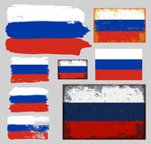 Russian flag collection vector Royalty Free Stock Images