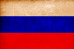 Russian flag combined with grunge texture Stock Photography