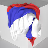 Russian flag. 3d rendering of a russian flag Royalty Free Stock Images