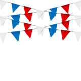 Russian flag festive bunting against. Party background with flag. S Stock Photo