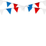 Russian flag festive bunting against. Party background with flag. S Royalty Free Stock Images