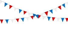 Russian flag festive bunting against. Party background with flag. S Stock Photos