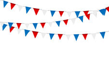 Russian flag festive bunting against. Party background with flag. S Royalty Free Stock Photo