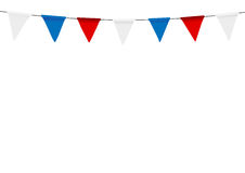 Russian flag festive bunting against. Party background with flag. S Royalty Free Stock Photos