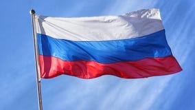 Russian Flag on Flagpole Stock Photos