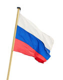 The Russian flag on a flagstaff Stock Image