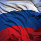 Russian flag, fluttering Stock Images