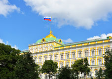 Russian flag on Grand Kremlin Palace Stock Photography