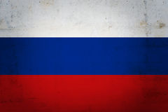 Russian flag. On grunge background Royalty Free Stock Photo