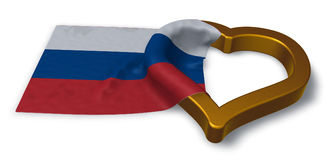 Russian flag and heart symbol Royalty Free Stock Image