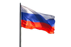 Russian flag. Isolated on white background Royalty Free Stock Photos