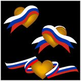 Russian flag and love icon, symbol love for the country. EPS file available. see more images related vector illustration