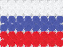 Russian flag made of flowers of carnations. Vector illustration. Of Day of Russia Stock Image