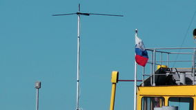 Russian flag moving at the wind stock video footage