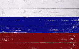Russian flag painted on a wooden board Royalty Free Stock Images