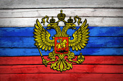 Russian flag painted on wooden boards Royalty Free Stock Photo