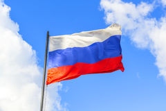 Russian flag. In the sky Royalty Free Stock Images