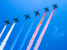 Russian flag in the sky Stock Images