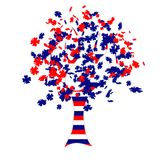 Russian flag tree Royalty Free Stock Photography
