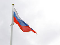 Russian flag tricolor and white flagstuff. Royalty Free Stock Image