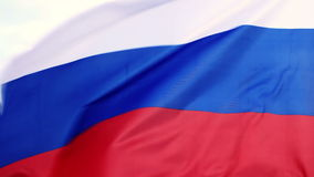Russian flag waving. Shot on Canon 5D Mark II with Prime L Lenses stock footage