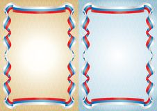 Russian flags frame. Royalty Free Stock Photo