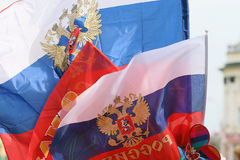 Russian flags Royalty Free Stock Image