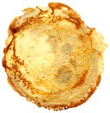 Russian flapjack isolated on white Royalty Free Stock Photography