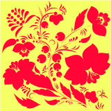 Russian floral pattern.  illustration Royalty Free Stock Photography