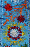 Russian folk art. Detail of a russian folk blanket Royalty Free Stock Photography