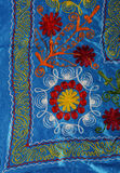 Russian folk art. Detail of a russian embroidered  blanket Royalty Free Stock Images