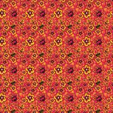 Russian folk art Khokhloma. Abstract flowers on a red background Royalty Free Stock Photos