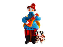 Russian folk clay toys of Dymkovo Stock Photo