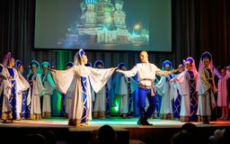 Russian folk dance Stock Images
