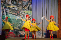 Russian folk dance contest Life in dance in the town of Kondrovo, Kaluga region in Russia in 2016. Royalty Free Stock Image