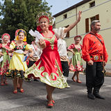 Russian folk dance ensemble Stock Photography