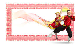 Russian folk dance Royalty Free Stock Photography