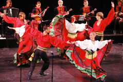 Russian folk dance group Stock Photos