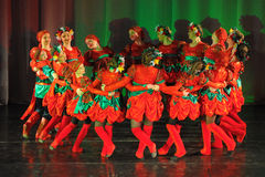 Russian folk dance group Stock Images