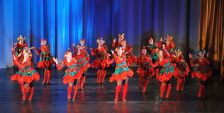 Russian folk dance group Stock Photography