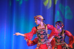 Russian folk dance group Royalty Free Stock Images