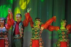 Russian folk dance group Stock Image