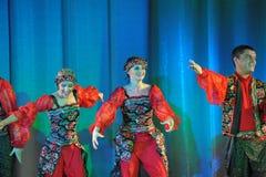 Russian folk dance group Stock Photo