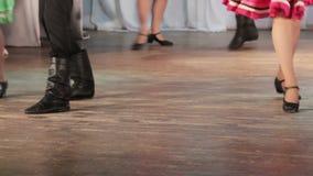 Russian folk dance on stage stock footage