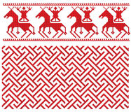 Russian folk embroidery. There is a scheme of russian pattern for embroidery Stock Images