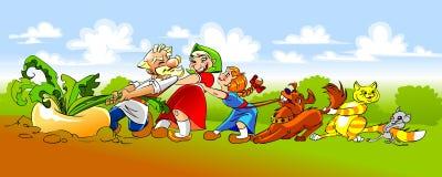 Russian Folk Fairy Tale The Turnip Royalty Free Stock Photos