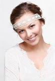Russian folk girl Royalty Free Stock Photography