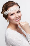 Russian folk girl Royalty Free Stock Photos