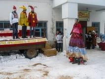Russian folk holiday Maslenitsa in the Kaluga region. Stock Images