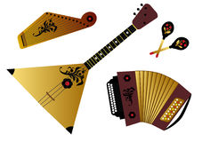 Russian folk music instruments Royalty Free Stock Image